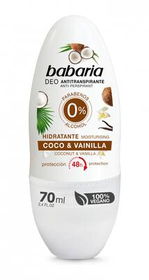 Babaria dezodorant roll-on Kokos i Vanilia 70ml