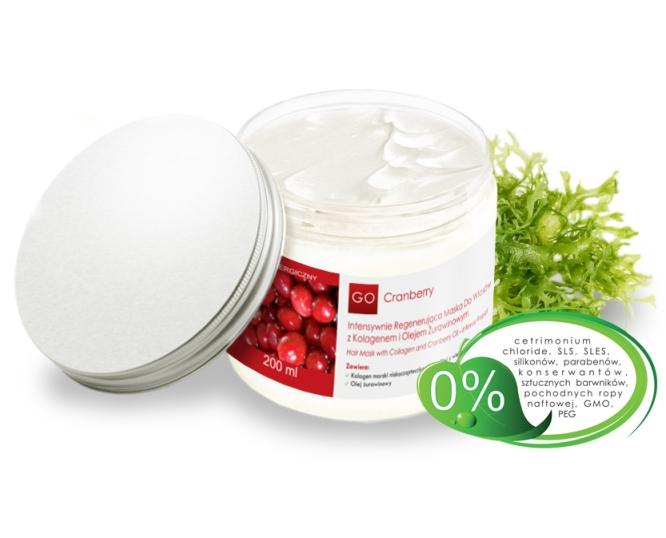 GO Cranberry intensywnie regenerujšca maska do włosów z kolagenem i olejem żurawinowym 200ml